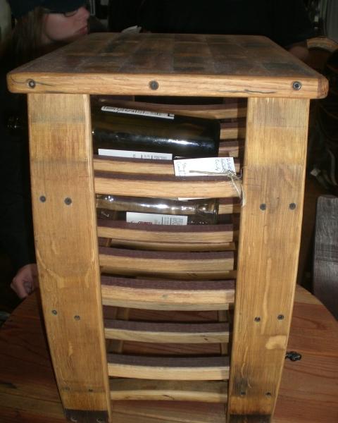 Wine Barrel RAck detail