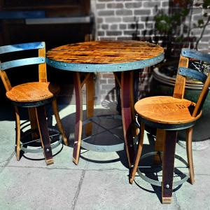 wine barrel dining table