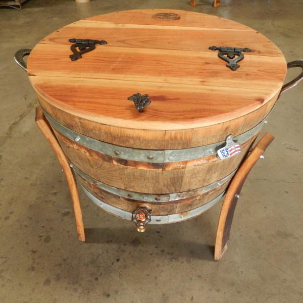 Large Oak Wine Barrel Cooler 30 Gallon