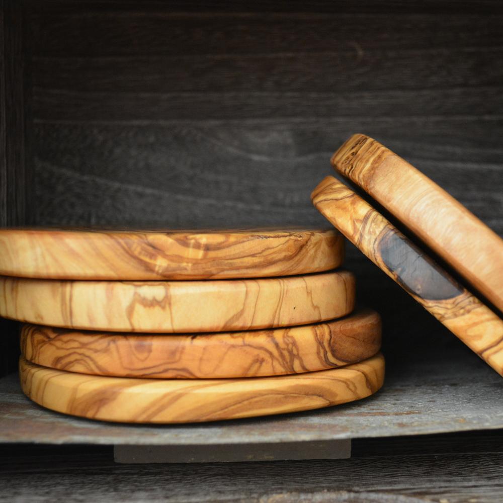 Napa General Store Olive Wood Coasters