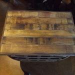 Oak wine rack top view