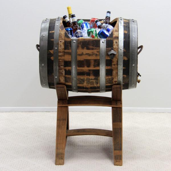 Full Oak Wine Barrel Horizontal Cooler
