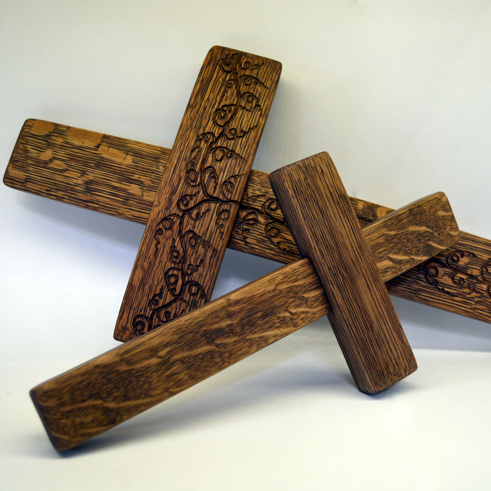 Crosses For Sale >> Wine Barrel Cross Free Shipping