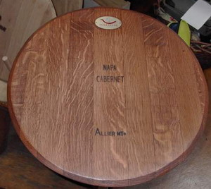 Wine Barrel Head Lazy Susan Free Shipping Napa General Store