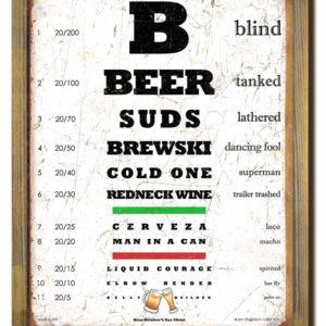 Beer Eye Chart