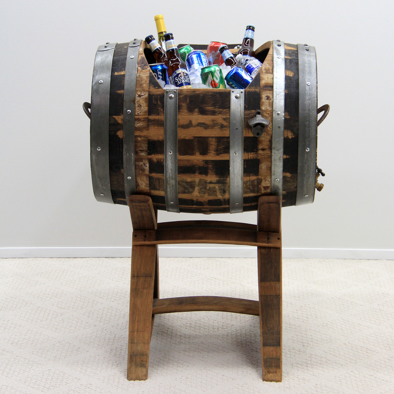 Full Oak Wine Barrel Horizontal Cooler