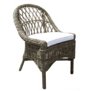 Rattan Cross Weave Dining Chair