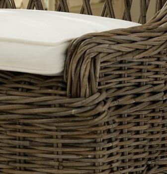 Rattan Cross Weave Dining Chair