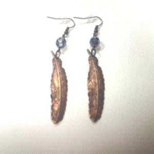 Brass Feather Earring