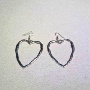 Rhodium Heart Earrings